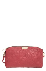 Burberry 'Small Chichester' Check Embossed Leather Crossbody Bag Peony Rose