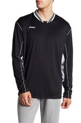 Asics Digg Long Sleeve Two Tone Pullover Black