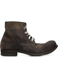 A Diciannoveventitre Distressed Ankle Boots Grey