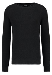 Dkny Jumper Smoke Heather Mottled Dark Grey