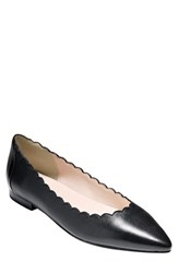 Women's Cole Haan 'Alice' Pointy Toe Flat Black