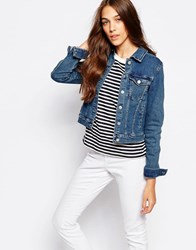 Pull And Bear Denim Jacket Blue