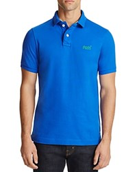 Superdry Pique Classic Fit Polo Shirt Cobalt