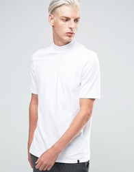 Adpt T Shirt With High Neck Detail Bright White