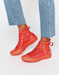 Converse All Star Rubber Chelsea Boots Signal Red