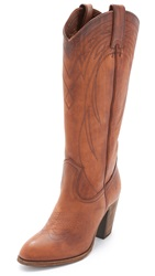 Frye Ilana Pull On Boots Cognac