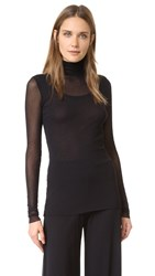 Fuzzi Long Sleeve Top Black