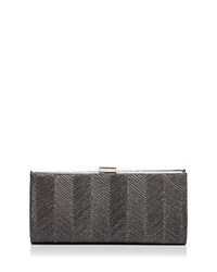 Sondra Roberts Metallic Wave East West Clutch Pewter