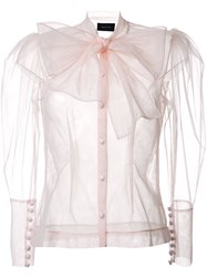 Simone Rocha Bow Detail Blouse Pink And Purple