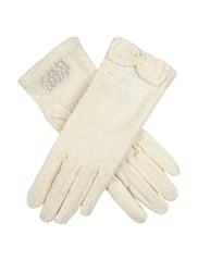 Dents Ladies Pastel Lace Glove Ivory