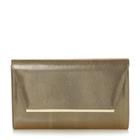 Untold Barkley Metallic Metal Detail Clutch Bag Bronze
