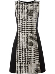 Fausto Puglisi Checked Fitted Dress Black