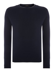 Paul Smith Plain Crew Neck Pull Over Jumpers Navy