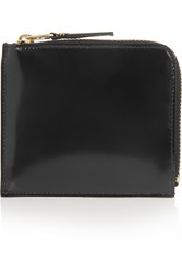 Comme Des Gara Ons Glossed Leather Wallet