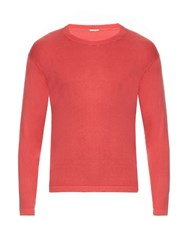 Massimo Alba Long Sleeved Silk Knit Sweater Red