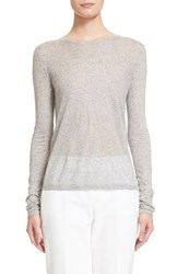 Women's Michael Kors Long Sleeve Tissue Tee Heather Gray