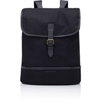 Tomas Maier Men's Flap Front Backpack Black