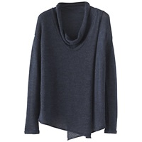 Poetry Crossover Panel Sweater Blue Black