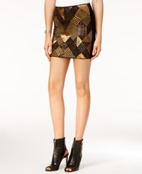 Guess Gwendolyn Embellished Mini Skirt Jet Black