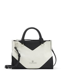 Vince Camuto Tina Two Tone Leather Satchel Oxford