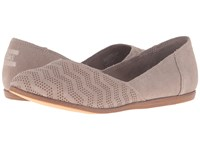 Toms Jutti Flat Desert Taupe Suede Chevron Embossed Women's Flat Shoes