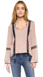 Twelfth St. By Cynthia Vincent Poet Lace Blouse Blush