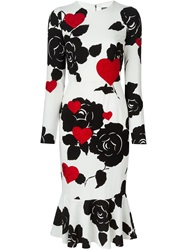 Dolce And Gabbana Heart Applique Dress White