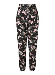Miss Selfridge Black Floral Print Jogger