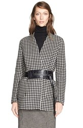 Women's Max Mara 'Geisha' Reversible Wool And Cashmere Wrap Jacket Black