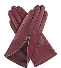 Dents Layla Wool Lined Leather Gloves Claret