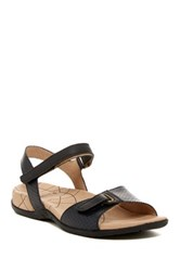 Sanita Catalina Claudia Snake Embossed Sandal Black