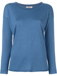 Liska Scoop Neck Sweater Blue