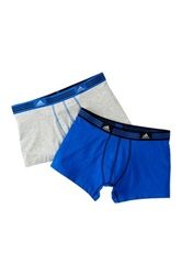 Adidas Athletic Stretch Trunk Pack Of 2 Gray
