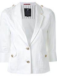 Loveless Half Sleeve Buttoned Jacket White