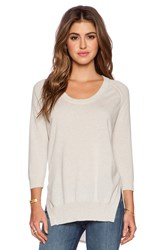 Autumn Cashmere High Low Scoop Sweater Beige