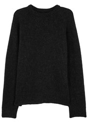 Our Legacy Black Wool And Mohair Blend Jumper