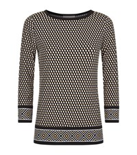 Michael Michael Kors Alston Print Jersey Border Top Female Multi