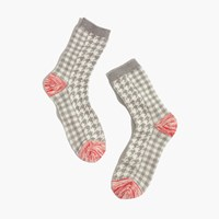 Madewell Plaid Trouser Socks Hthr Pelican