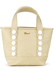 Muveil Button Detail Tote Metallic