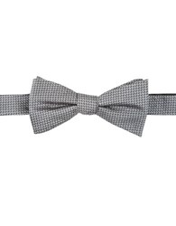 Vince Camuto Geometric Silk Bow Tie Grey