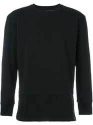 Diesel Mesh Panel Sweatshirt Black