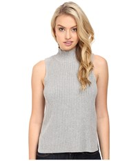 Kensie Cotton Blend Sleeveless Sweater Ks8u5601 Heather Pale Grey Women's Sweater Gray