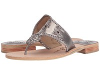 Jack Rogers Westhampton Pewter Pewter Women's Shoes Gray