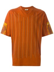Romeo Gigli Vintage Striped T Shirt Yellow And Orange