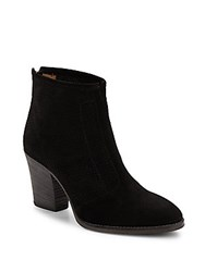 Aquatalia By Marvin K Fia Perforated Paneled Suede Ankle Boots Black