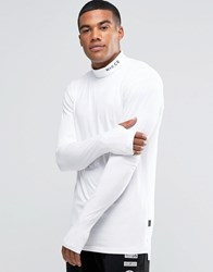 Nicce London Long Sleeve T Shirt With Turtle Neck White
