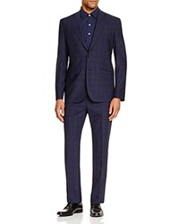 Hardy Amies Check Slim Fit Suit Navy
