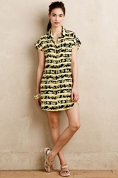 Anthropologie Girls To The Front Shirtdress Yellow