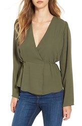 June And Hudson Women's Long Sleeve Wrap Top