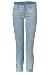 Faith Connexion Light Blue Cotton Slim Jeans With Ankle Snaps